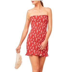 REFORMATION • Chantilly Strapless Minidress • NWT